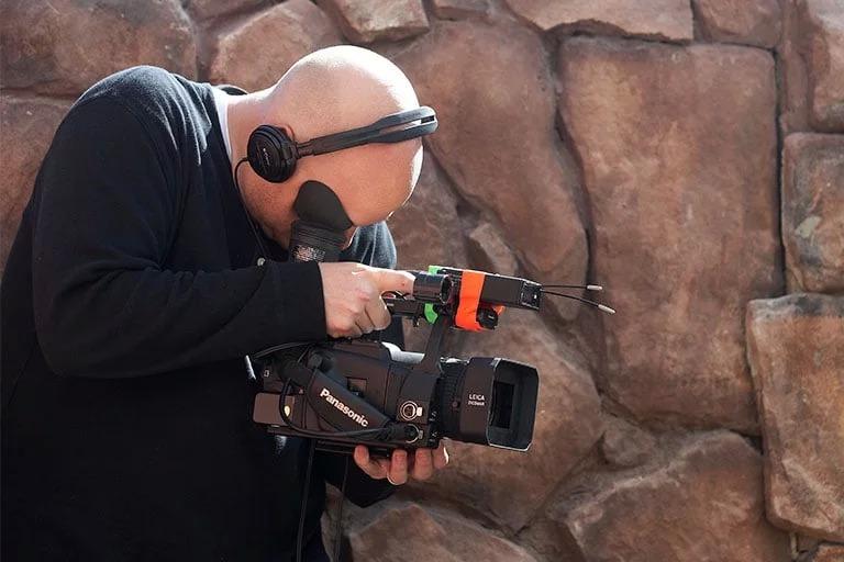 Filmmaker in action