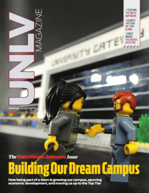 Magazine cover featuring Building Our Dream Campus story