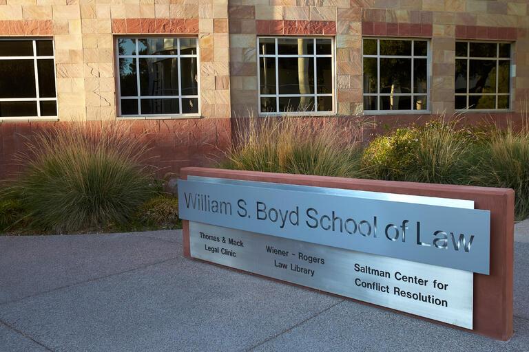 Boyd Law School sign