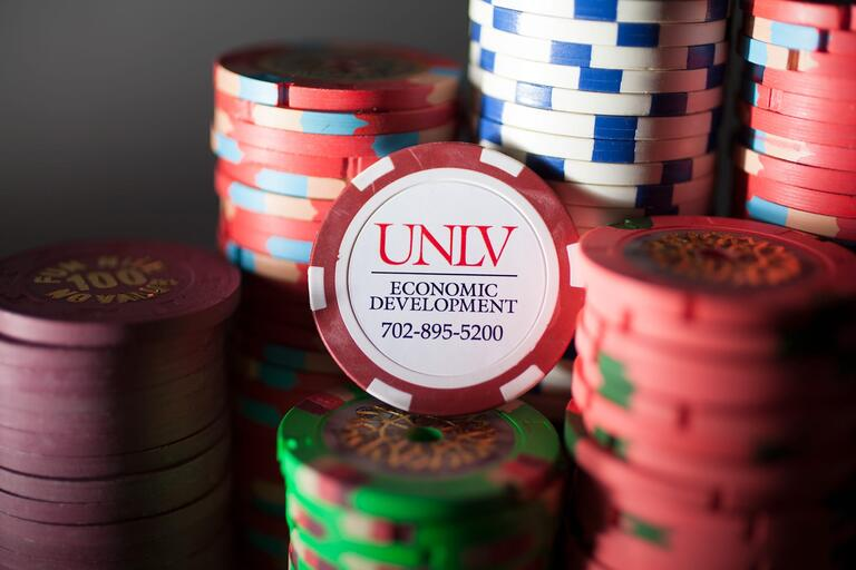 UNLV poker chips