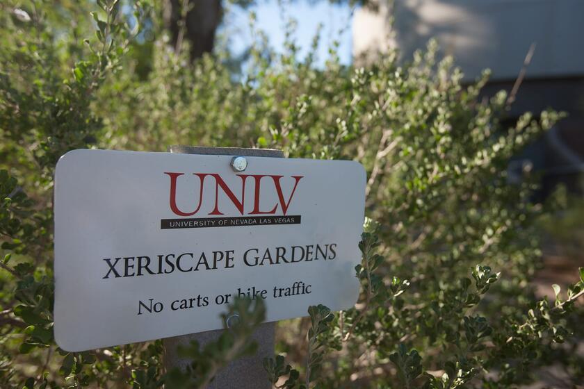 Signage for Donald H. Baepler Xeric Garden